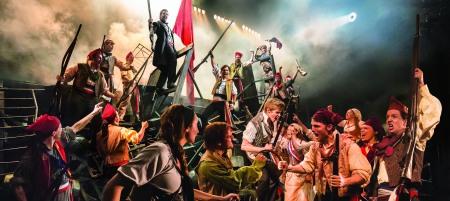 Les Misérables. The Barricade. Photo credit Johan Persson