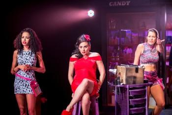 Jade Ewen (Vanessa), Victoria Hamilton-Barritt (Daniela) and Sarah Naudi (Carla)