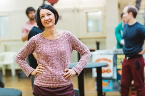 Jessica Martin in rehearsals for Elf The Musical. Credit Becky Lee