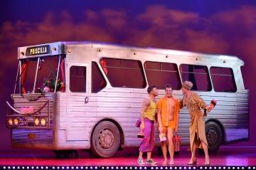 Simon Green as Bernadette, Duncan James as Tick, Adam Bailey as Felicia - Priscilla Queen of the Desert - The Musical - Photo credit Paul Coltas (2)