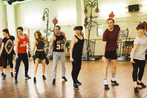 The Cast in rehearsals for Elf The Musical. Credit Becky Lee (3)