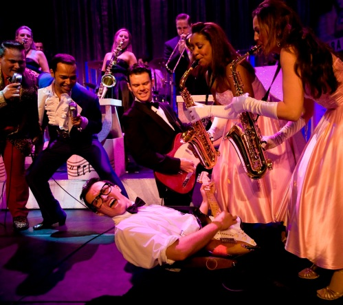 Buddy - The Buddy Holly Story (previous tour production image Dean Elliott and company) - credit Johan Persson