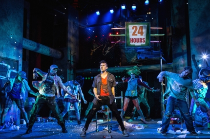 Cast of American Idiot, Green Day Musical, The Arts Theatre, London, England