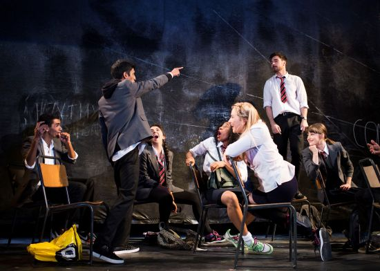 The cast of National Youth Theatre 2015 REP Season in Consensual Credit Helen Maybanks 11.jpg