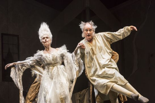 Jim Broadbent and Amelia Bullmore in A Christmas Carol. Credit Johan Persson.jpg