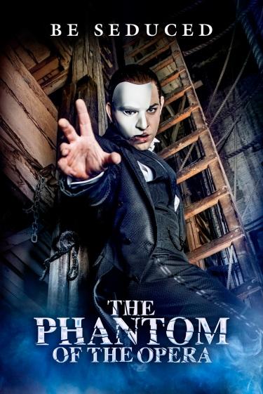 Ben Forster as The Phantom in The Phantom Of The Opera.  Photo by Matt Crockett LR