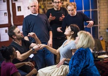 Gemma Arterton (Nell Gwynn) and cast in Nell Gwynn. Photos by Tristram Kenton.
