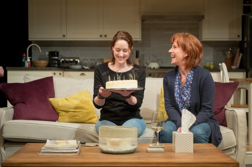 Georgina Rich (Izzy) and Penny Downie (Nat) in Rabbit Hole at Hampstead Theatre. Photos by Manuel Harlan.