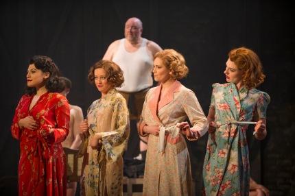 MRS HENDERSON PRESENTS. Katie Bernstein 'Peggy', Lauren Hood 'Vera', Emma Williams 'Maureen' and Lizzy Connolly 'Doris'. Photo by Paul Coltas