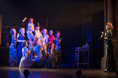 MRS HENDERSON PRESENTS. Tracie Bennett 'Mrs Laura Henderson' and company. Photo by Paul Coltas
