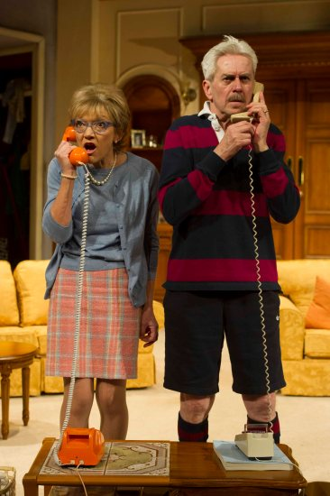'How the Other Half Loves' Play by Alan Aycbourn performed at the Theatre Royal, Haymarket, London, UK